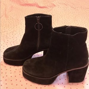 UNIF Black Suede Ankle Boots, size 8